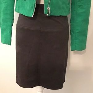 Pretty Suede Looking Skirt Size XS